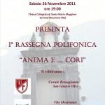 Manifesto Prima rassegna Polifonica 2011